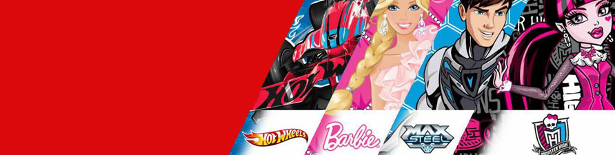 mattel, barbie, hot wheels, max steel, monster high