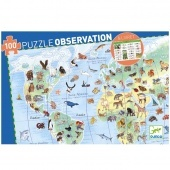 Puzzle Observation 100 db Djeco