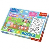 Color puzzle 20 db - Peppa Trefl