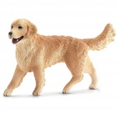Golden retriever szuka Schleich