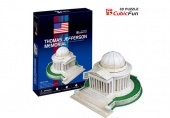 3D Puzzle közepes méret Thomas Jefferson Memorial 35 db-os CubicFun