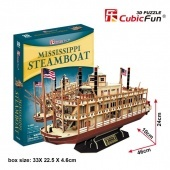 3D puzzle Missisippi Steamboat 142 darabos CubicFun