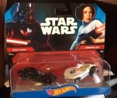 Hot Wheels Star Wars 2 db-os kisautó - Darth Vader vs. Princess Leia
