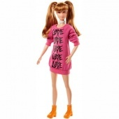Barbie Fashionista Szőkés barna hajú Barbie love ruhában