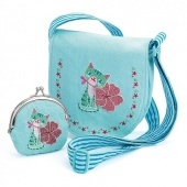 Embroidered kitten bag and purse Djeco