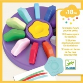 12 flower crayons for toddlers