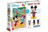 104 db-os puzzle + 3D modell - Mickey Mo